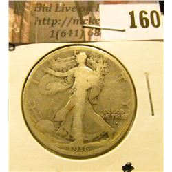 1916 S Walking Liberty Half Dollar, Good.