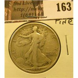 1917 P Walking Liberty Half Dollar, Fine.