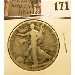 1919 P Walking Liberty Half Dollar, Good.