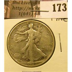 1920 P Walking Liberty Half Dollar, Fine.
