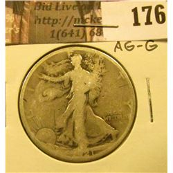1921 P Walking Liberty Half Dollar, AG-G.