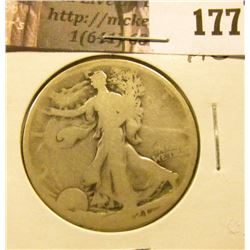 1921 P Walking Liberty Half Dollar, AG.