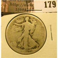 1921 S Walking Liberty Half Dollar,  AG.