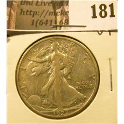 1923 S Walking Liberty Half Dollar, VF.