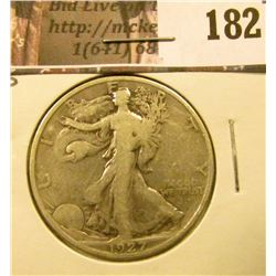 1927 S Walking Liberty Half Dollar, Fine.