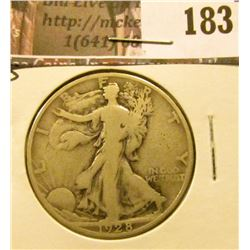 1928 S Walking Liberty Half Dollar, VG.