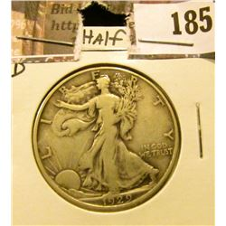1929 D Walking Liberty Half Dollar, Fine-VF.