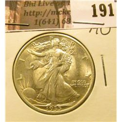 1935 P Walking Liberty Half Dollar, AU.