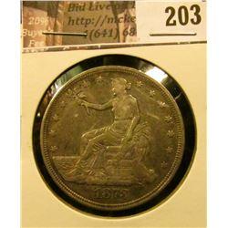 1873 P U.S. Trade Dollar, EF.
