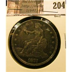 1877 P U.S. Trade Dollar, EF.