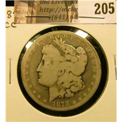 1878 CC Morgan Silver Dollar, AG-G.