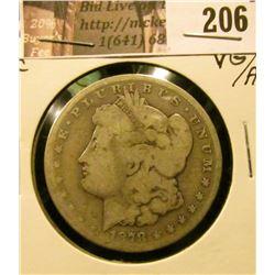 1878 CC Morgan Silver Dollar, VG/AG.