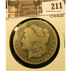 1890 CC Morgan Silver Dollar, Good.