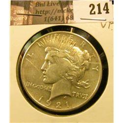 1921 P U.S. Peace Silver Dollar, Very Fine.