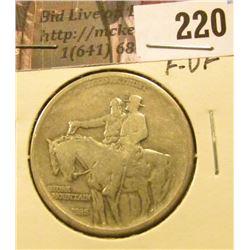 1925 Stone Mountain  Commemorative Half Dollar, F-VF.