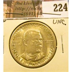 1946 D Booker T. Washington Commemorative Half Dollar, Uncirculated.