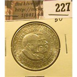 1953 Washington/Carver Silver Commemorative Half Dollar, Brilliant Uncirculated.