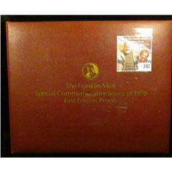 Set of the first (39) Special Commemorative Issues of 1970, First Edition Proofs in Franklin Bronze,