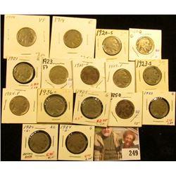 1918P G, 20P G (dark), 20D G, 20S G, 21P G, 23P F, 23S G, 24P G, 24D G, 24S AG, 25P G, 25D F, 25S G,