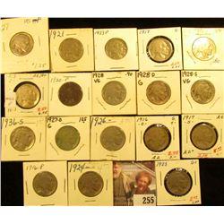 1913P & D Type One, 16P, D, 17P, S, 20P, 21P, 23P, 24P, 25P, 26P, 27P, D, 28P, D, S, & 36S carded Bu