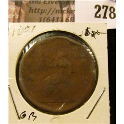 1801 Great Britain One Penny.