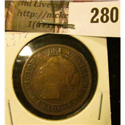 1859 VG Canada Large Cents.