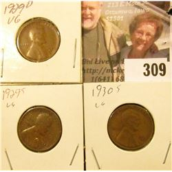 1929D, S, & 30 S Lincoln Cents.