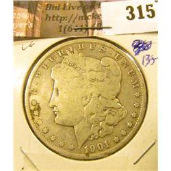 1901 O Morgan Silver Dollar, VG.