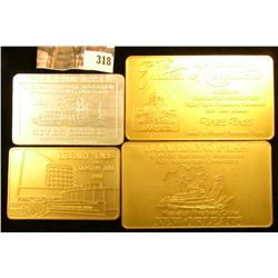 (4) Different American Numismatic Association Aluminum Passes. Three are gold colored and the last s
