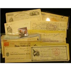 (18) Different Old Checks dating back to 1857. Includes some rarities including checks from Banking