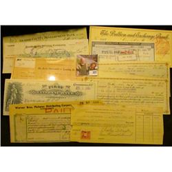 Old Check lot dating back to 1886. Includes 1929 Check for $3,500 drawn on  Amador County Developmen