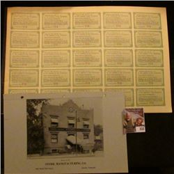 # 247 Preferred Stock Certificate with bond coupons from  Steril Manufacturing Company  memorabilia