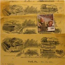 13 pieces of Agricultural related letter heads, which 'Doc' had priced to sell at over $170.00.