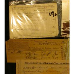 """Philadelphia & Reading Railway Company, Dr."" invoice; (2) Virginia & Truckee Railroad Postcards; ""B"