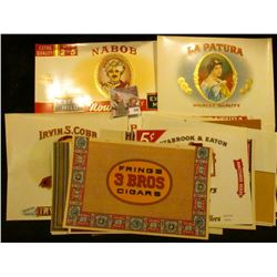(18) very colorful Cigar Box labels in near Mint condition.