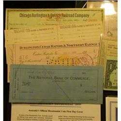 (6) pieces of Rail Road Memorabilia; & 1788 Australia's Bicentennial 1988 Official Bicentennial Coin