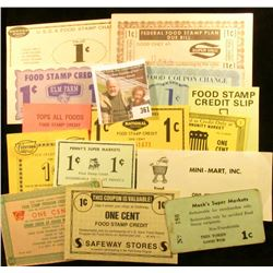"Twenty-different One Cent Official Food Coupon Scrip.""Jet ."