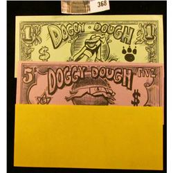 "Set of Three ""Doggy-Dough"" 1, 5, & 10 Biscuit Notes. This Doggy Money was used at Wichita Grey Hound"