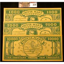 "$1000, $5000, & $10000 ""Movie Mart Currency Cadaco, Ltd. Of San Leandro California Will Pay the Bear"