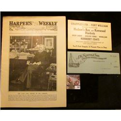 "Large Business Card ""Chapples Ltd. -Fort William Headquarters For Hudson's Bay and Kenwood Blankets"