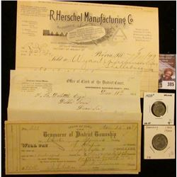 "Nov. 24, 1897 ""State of Iowa The Treasurer of District Township of Chester in Howard County"" Check;"