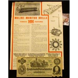 "Advertising Booklet ""The New Monitor Drills have these features…Minneapolis-Moline Power Implement C"