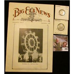 "September, 1929 ""Big Eli News Jacksonville, Illinois"" Booklet with lots of information on Circus rid"