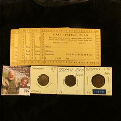 "(8) Unused Ticket Punch cards for ""Cash (Flying) Plan…Shaw Aircraft Co…."" (Iowa City, Iowa); 1874A,"