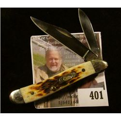 """Case XX stag handle 2 blade """"toothpick"""" pocket knife, 5"""" total length open (longest blade)"""