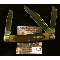 "Schrade ""Old Timer"" 3 blade pocket knife, 7"" total length open (longest blade)"