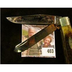 Case XX 1982 N.C. Wild Turkey Federation 2 blade commemorative knife, #225 of 300, decorated blade,