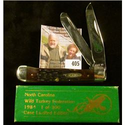 Case XX 1984 N.C. Wild Turkey Federation 2 blade commemorative knife, #225 of 300, decorated blade,
