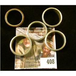5 rings made from Half Dollars – 2 from 1943, 2 from 1945, one from 1971. Sizes range from 10 to 13.