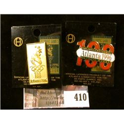 (2) official licensed 1996 Atlanta Centennial Olympics pins